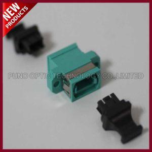 Fiber Optic Aqua Multimode OM3 MPO Flange MTP Adapter pictures & photos
