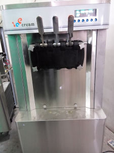 Stainless Steel Three Flavor Soft Ice Cream Machine for Sales pictures & photos