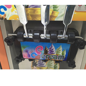 Hot Sale Stainless Steel Tabletop Low Cost Soft Serve Ice Cream Gelato Maker with Ce Approved pictures & photos