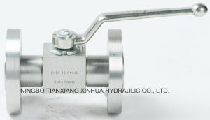 High Pressure Carbon Steel Flange Ball Valve pictures & photos