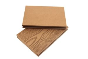 WPC Decking Floor with Wood Grain Surface pictures & photos