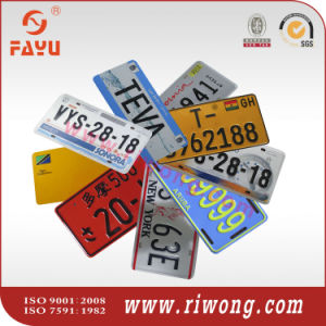 High Security Blank License Plates, Car Number Plates pictures & photos