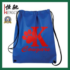 Multi Color Polyester Drawstring Backpack Bag for Shopping pictures & photos