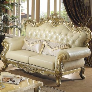 Wooden Leather Sofa for Living Room Furniture (533) pictures & photos