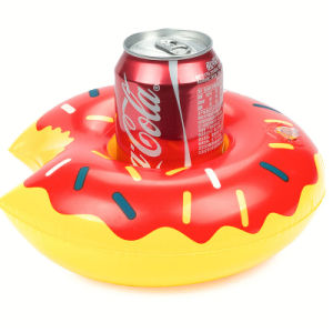 Mini PVC Inflatable Red Donut Drink Holder Floating pictures & photos