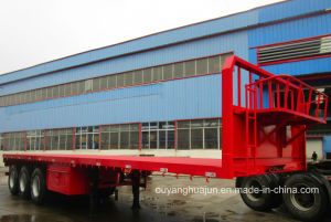 12 Meters 33.2 T 3 Axles Flatbed Simitrailer pictures & photos