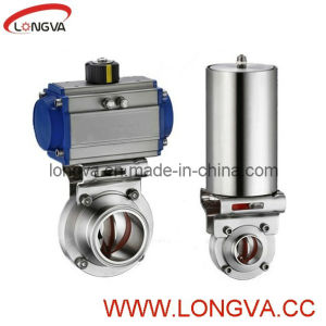 Stainless Steel Butterfly Valve with Pneumatic Actuator pictures & photos
