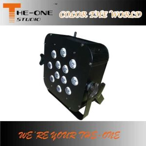 DJ Club 12*17W Wireless DMX LED Flat PAR Light pictures & photos