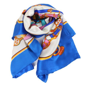 Long Multicolor Printed Lady Fashion Silk Scarf pictures & photos