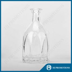700ml Lotus Shape Liquor Glass Bottle (HJ-GYTN-C01) pictures & photos