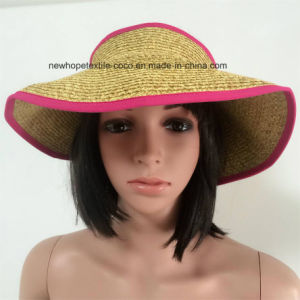 100% Straw Hat, Fashion Visor and Folded Style pictures & photos