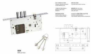 Iron/Zinc Safe Door Lockbody/Security Door Lock (804) pictures & photos