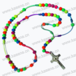 Hot Sale Catholic Religious Colourful Cord Rosary Beads