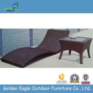 Sales Promotion Furniture Synthetic Rattan Material Sun Lounger pictures & photos