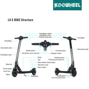 Koowheel Foldable 8inch Electric Scooter with Lithium Battery, Lightest E-Scooter pictures & photos