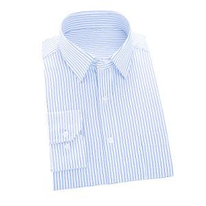 Men Light Blue Formal Business Dress Shirt of 100% Cotton pictures & photos
