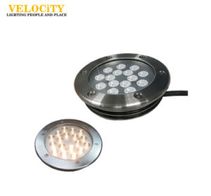 Factory High Quality IP68 RGB SUS316 LED Swimming Pool Light with Mounting Sleeve
