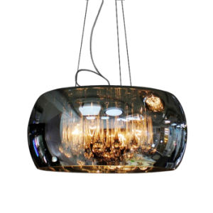 Contemporary Dining Room Glass Hanging Pendant Light Lamp Lighting with Adjustable Hanging Height in Chrome pictures & photos