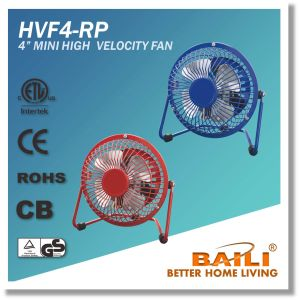 "4"" Mini High Velocity Fan, Mini Metal Table Fan pictures & photos"