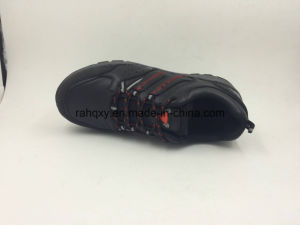 Cow Leather Black Rubber Sole Working Shoes (16069) pictures & photos