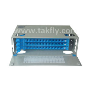 19′′ Fixed Rack-Mount Fiber Optic ODF/Distribution Box/Patch Panel pictures & photos
