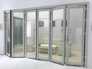 Strong Double Glazing Aluminum Bi Folding Door pictures & photos