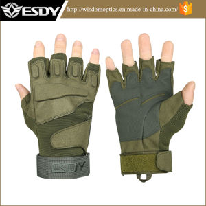 Military Police Summer Tactical Combat Protective Shooting Fingerless Gloves pictures & photos
