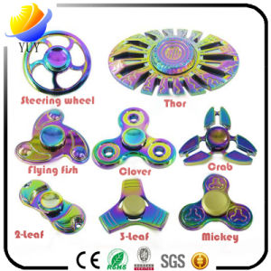 Magical Rainbow Glow Metal Fidget Hand Finger Spinners pictures & photos