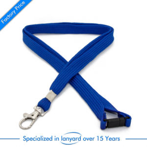 Flat Polyester Screen Printed School Card Lanyard as Gift pictures & photos