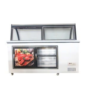 Refrigerated and Frozen Meat Display Freezer for Supermarket pictures & photos