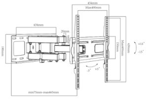 China Factory Hot Sales LCD TV Wall Mount Bracket (CT-WPLB-8103) pictures & photos