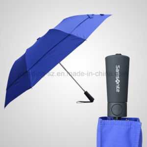 Double Layer 2 Section Automatic Foldable Umbrella pictures & photos