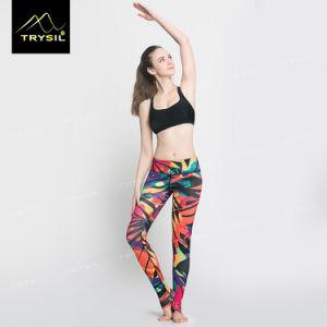 2017 Colorful Custom Print Foot Legging Yoga Foot Pants pictures & photos