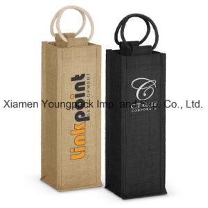 Fashion High Quality Custom Reusable Jute Burlap 4 Bottle Wine Carrier Bags pictures & photos