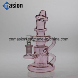 Pink Color Recycler Pipe Glass Water Pipe (ZY011) pictures & photos