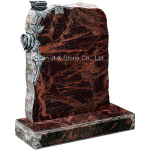 Cheap Price Granite Headstone Monuments with Roses pictures & photos