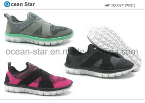 New Design High Quality Flyknit Comfort Sports Lady Shoes pictures & photos