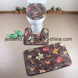 High Quality Bathroom Mat/Toilet Mat/Bath Mat Set with PVC Mesh Backing pictures & photos