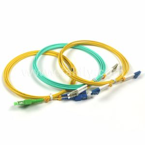LC/Upc-LC/Upc 3.0mm Singlemode Duplex Fiber Optic Patch Cord pictures & photos