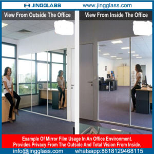 One Way See Through Mirror Glass in Commercial Office pictures & photos