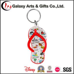 Promotional Logo Printing Custom Flip-Flops Shaped Plastic Acrylic Keychain pictures & photos