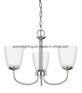 2017 Newest Plain Glass Brushed Nikel Chandelier with UL Approval pictures & photos