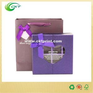 Custom Cardboard Gift Box with Clear PVC Window (CKT-CB-399) pictures & photos