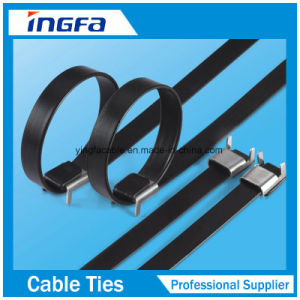 201 PVC Coated Stainless Steel Cable Ties Wing Locked Type Zip Tie pictures & photos