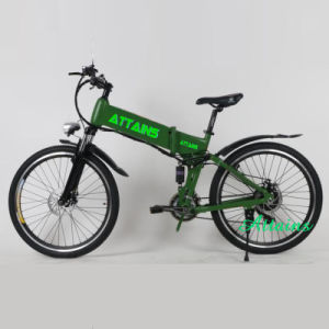 Hidden Battery Operated City Beach Cruiser Folding Electric Bike for Man pictures & photos