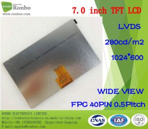 """7.0"""" 1024X600 Lvds 40pin High Brightness: 300 TFT LCD Touch Screen pictures & photos"""