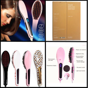 Anion Straight Comb LCD Hair Straightening Brush pictures & photos