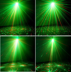 Wholesale Multi Color Laser Light 4 in 1 Effect MP3 Player Laser Light Mini Laser Disco Light with Remote Control pictures & photos