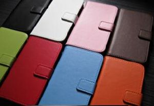 Mini I9190 Protective Leather Case Book Style for I-18 Smart Phone Samsung S4 pictures & photos
