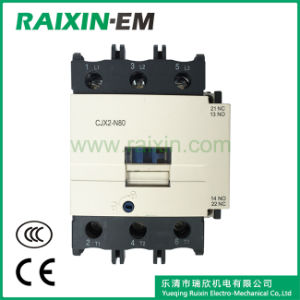 Raixin New Type Cjx2-N80 AC Contactor 3p AC-3 380V 37kw pictures & photos